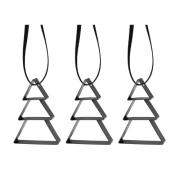 Stelton juletræer - Figura - Sort - 3 stk.