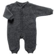 Soft wool køredragt m. knapper fra Joha - Koksgrå