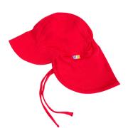 Sommerhat m. nakkeskygge fra Joha - Økologisk bomuld - Rød