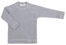 Bluse i Baby Uld (Soft Wool) fra Joha - Grey melange