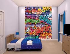 Graffiti tapet 243 x 203 cm