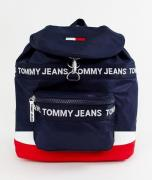 Tommy Jeans heritage backpack in canvas in blue - Blue