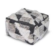 Puff Marrakesh Ivory/Charcoal 55x55 cm