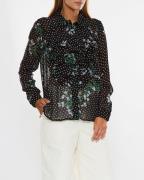 Ganni Shirt Rometty Georgette Svart