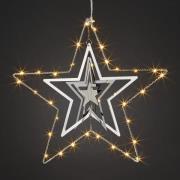 Tredimensional Metalstjerne med LED