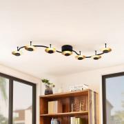 Lindby Graviela LED-væglampe, 7 lyskilder