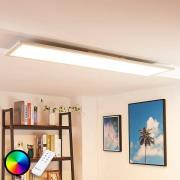 Aflang LED loftlampe Tinus, RGB og varmhvid