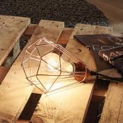 Tarbes vintage bordlampe med kobber finish