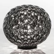 Kugleformet LED-bordlampe Planet, røggrå