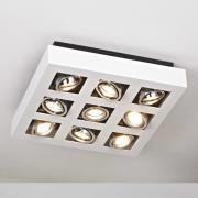 Lyst skinnende LED-loftslampe, 9 lyskilder