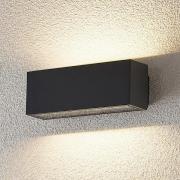 Udendørs LED-væglampe Oliver, mørkegrå, 18 cm