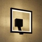 Udendørs LED-væglampe Square, grafitgrå