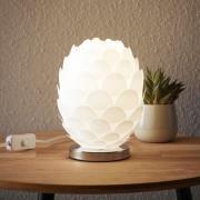 Bordlampe Marees i hvid, Ø 15 cm