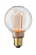 Pære E27 Laser LED Filament Globe 80 mm Klar 3,5 W