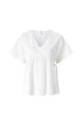 Ventebluse med broderie anglaise