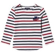 Tommy Hilfiger White, Red and Navy Long Sleeve Tee 92 (18-24 months)