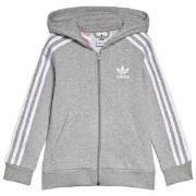 adidas Originals Grey Small Logo Full Zip Hoodie 7-8 years (128 cm)