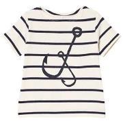 Emma och Malena Krok T-Shirt Stripe Navy 50/56 cm