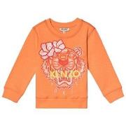 Kenzo Orange Flower Tiger Embroidered Sweatshirt 2 years