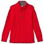 GAP Mock Modern Red Sherpa Sweater XS (4-5 år)