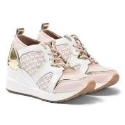 Michael Kors Wedge Sneakers Pink and White 29 (UK 11)