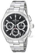 Alpina Alpiner Herreur AL-760BS5AQ6B Sort/Stål Ø44 mm