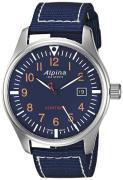 Alpina Startimer Herreur AL-240N4S6 Blå/Tekstil Ø42 mm