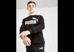 Puma     Core Logo Crew Sweatshirt Junior - Black - Kids