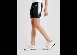 adidas Originals Girls' 3-Stripes Cycle Shorts Junior - Black  - Kids