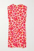 Marni - Leopard-print Crepe Mini Dress - Red