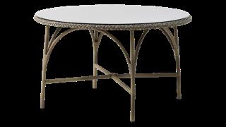 SIKA DESIGN Victoria cafébord - glasplade og natur fibre (&Osla...