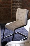 BODAHL Franco spisebordsstol - lysebrunt læder og stål