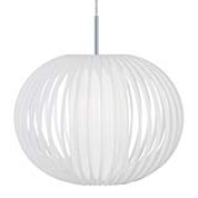 Globen Lighting-Plastic strap Pendant XL, White/Chrome