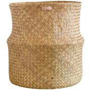 Mimou-Bliss Basket With Folded Edge, Natural