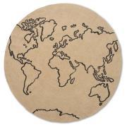 World jutetæppe large Ø130 cm Beige