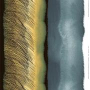 Kuuskajaskari tekstil grå-gul-sort