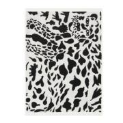 Oiva Toikka Cheetah håndklæde 50x70 cm Sort/Hvid
